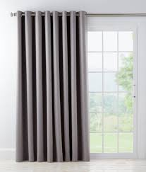 Drapes With Grommets Supreme Blackout Grommet Top Patio Panel With Detachable Wand