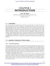 hydraulic design handbook larry w mays pdf