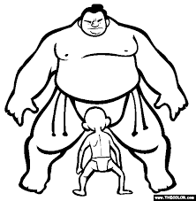 ninja nunchaku kids judo fight coloring pages