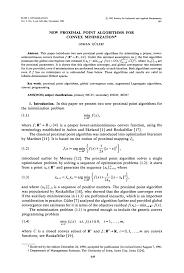 new proximal point algorithms for convex minimization