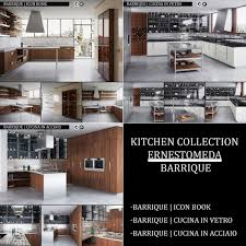 3d kitchen collection ernestomeda barrique cgtrader
