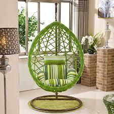 rattan basket swing hanging chair balcony wicker bedroom indoor