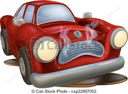 wrecked car clipart a wrecked cartoon car needing fixing by a mechanic or clipart