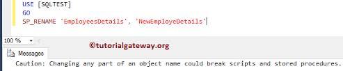 rename table name in sql rename table name and column name in sql server