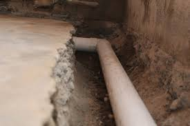 french drain installation arid basement waterproofing