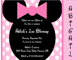 birthday invites incredible minnie mouse birthday party