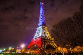 eiffel tower christmas lights eiffel tower at night editorial photography image of flag 63055702