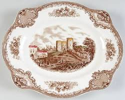 johnson brothers britain castles brown multicolor at