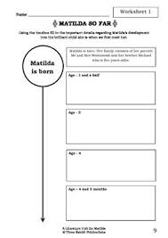 unit matilda roald dahl novel study worksheets