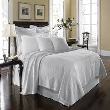Eastern Accents Coverlets Bedroom Appealing White Matelasse Coverlet With Smooth Pillows