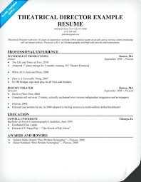 writing a resume exles theater resume exle