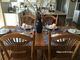 Dining Room Table Setting Ideas Calypso In The Country Summer Inspired Kitchen Table Setting