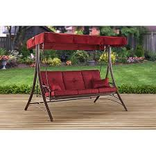 mainstays callimont park 3 seat swing bed red walmart com