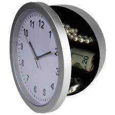 creative wall clock with hidden safe
