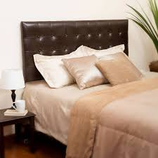 nolan leather king cal king headboard in brown