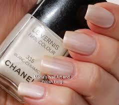 marias nail art and polish blog chanel blanc ceramic 335 spring