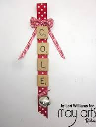 diy scrabble ornament pinteres