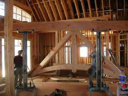 Hybrid Timber Frame Floor Plans Timber Frame Trusses Create An Open And Dramatic Effect