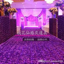 wedding decoration supplies 1 4 m width wedding carpet 3d petal carpet aisle