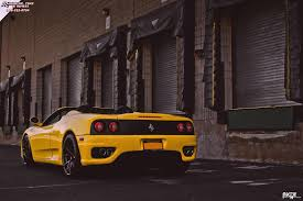 ferrari yellow and black ferrari 360 modena spyder niche misano h61 wheels gloss black