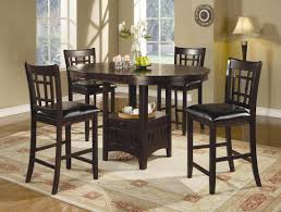furniture alluring tall round glass dining room table dining
