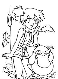 pokemon coloring pages misty pokemon ash coloring pages misty and coloring page pokemon ash
