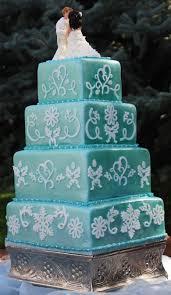 the cake mama teal wedding cake