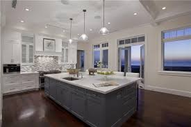 Custom Contemporary Kitchen Cabinets by Contemporary Kitchen With Breakfast Bar U0026 Pendant Light In Delray