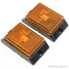 led side marker lights 2 amber led side marker lights 4 clearance truck trailer pickup