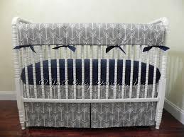 Custom Boy Crib Bedding Gray Arrow Baby Bedding Set Boy Baby Bedding Tribal Baby