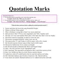 worksheets on quotation marks mreichert kids worksheets