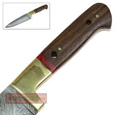 wild stag iron chef damascus steel kitchen style knife stained