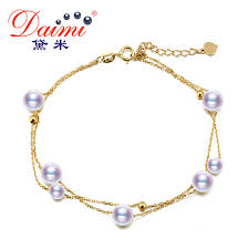 pearl bracelet with gold chain images Daimi akoya pearl bracelet g18k yellow gold chain bracelet white jpg