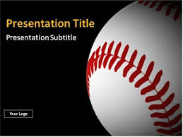 baseball powerpoint template free download baseball ball with red