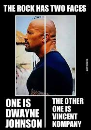 Vincent Meme - the rock has two faces one is dwayne johnson and the other one is