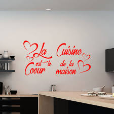 stickers citations cuisine sticker citation la cuisine est le coeur de la maison