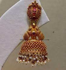 kerala style jhumka earrings fancy gold jhumka earring jhumka earrings