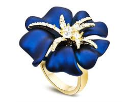 flower rings jewelry images White cubic zirconia enamel fashion ring flower design brand jpg