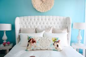 white tufted bed living room modern with none beeyoutifullife com