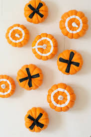 mini pumpkin tic tac toe project kid