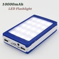 Diy Solar Phone Charger Solar Power Bank Box 10000mah Portable Cargador Movil Led Flash