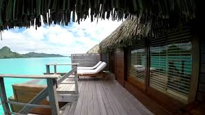 four seasons bora bora over water bungalow room tour youtube