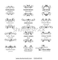 unique handdrawn logo template collection abstract stock vector