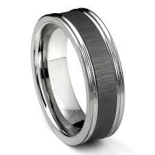 Mens Platinum Wedding Rings by Tungsten Carbide Black Ceramic Inlay Wedding Band Ring W