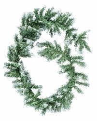 frosted artificial swaging green fir garland 6 foot