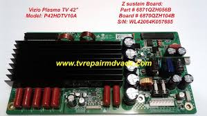 how to reset vizio tv vizio p42hdtv10a z sustain board 6871qzh056b tested reset