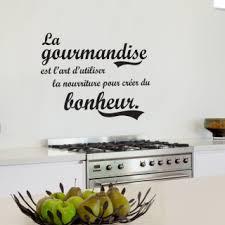 cuisine et gourmandise stickers original citation sur gourmandise et bonheur pour cuisine