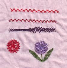 Fish Bone Stitch Embroidery Tutorials Needlecraft Tast 1 The Herringbone Stitch