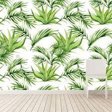 3d murals custom 3d murals tropical leaves print wallpaper hotel room