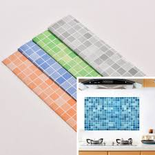 wall stickers for kitchen tiles promotion shop for promotional 45x70cm kitchen mosaic tile stickers for wall decal pvc wall sticker bathroom waterproof self adhesive wallpaper home decoration